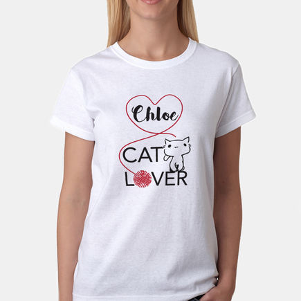 4687abe4e Personalized Cat Lover T-shirt - Just Becuzz Inc.