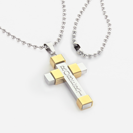 Men's Personalized Cross Necklace