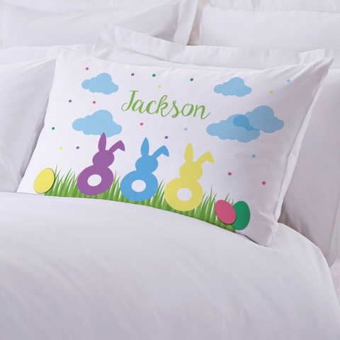Personalized Children's Easter Bunnies Pillowcase