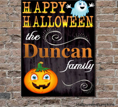 Personalized Halloween Canvas Signs