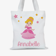 Personalized Kids Princess Character Tote Bag