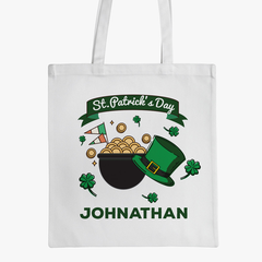 St. Patrick's Day Personalize Tote Bags