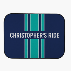 Personalized Stripe Car Mats