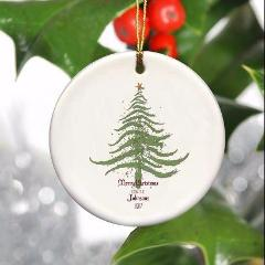 Personalized Vintage Christmas Ornaments