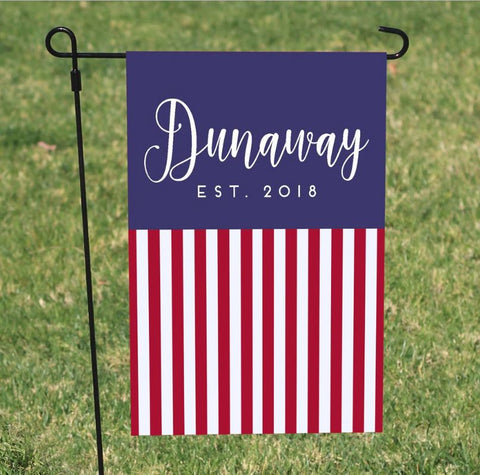 Personalized 4th of July Flag USA