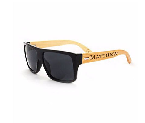 Personalized Bamboo Sunglasses