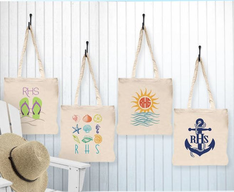 Personalized Beach Tote