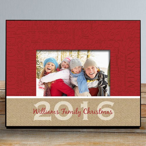 Personalized Christmas Words Picture Frame