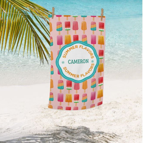 Personalized Ice Cream Paradise Beach Towel