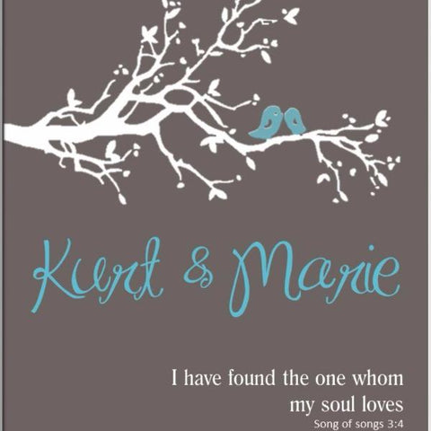 Personalized My Soul Love & Romance Canvas Sign