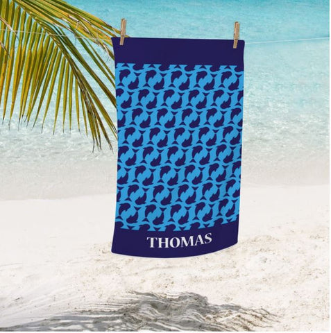Personalized Shark Kids Beach Towel