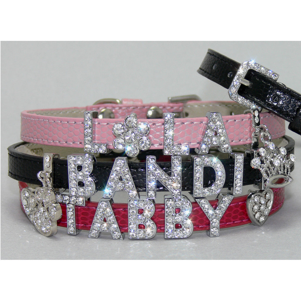 Rhinestone Slide Pet Collar