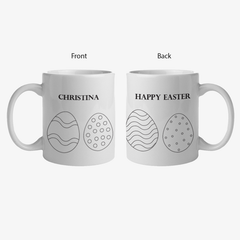 Happy Easter Add Color Custom Ceramic Mug