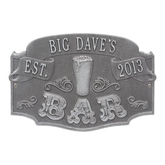Established Bar Plaque, Standard