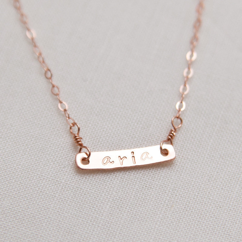 Personalized Nameplate Pendant