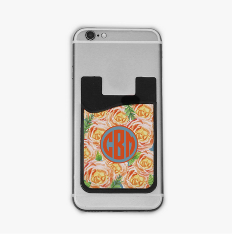 Personalized Roses Caddy Phone Wallet