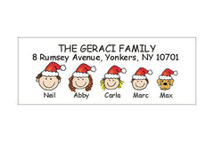 Santa Hat Address Labels
