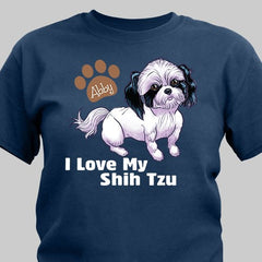 Personalized I Love My Pet T-Shirt