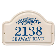 Personalized Star Fish Ceramic Arch Plaque