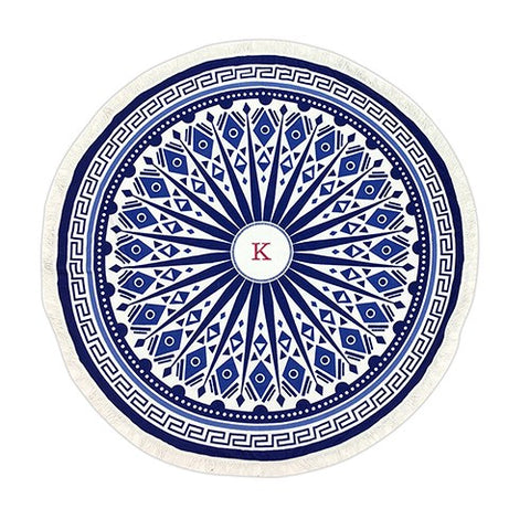 Tribal Print Round Beach Towel