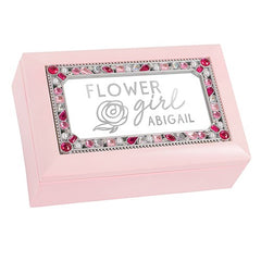 Flower Girl Jeweled Music Box