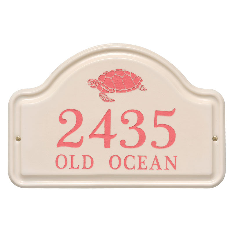 Personalized Turtle Ceramic Arch Plaque