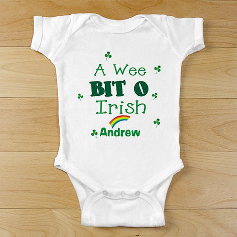 A Wee Bit O Irish Personalized Infant Creeper