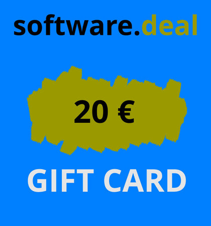 Software deal gift card 20 €