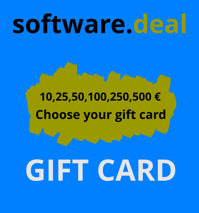 Software deal Gift card