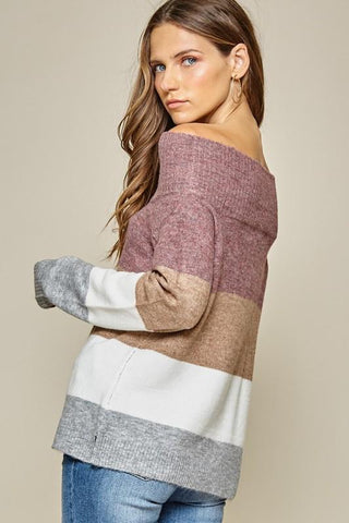 Andree by Unit Off Shoulder Sweater - Plus