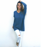 V-Neck Warm Sweaters Casual Sweater