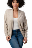 CARDIGAN RIB SWEATER COCOON CARDIGAN