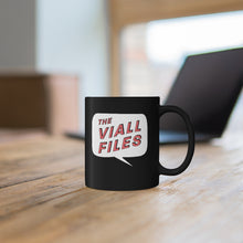 Load image into Gallery viewer, Viall Files Logo Black Mug