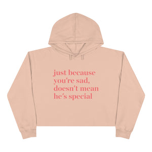Just Because You're Sad Doesn't Mean He's Special Crop Hoodie