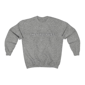 Viall Files Unisex Crewneck Classic Sweatshirt (White)