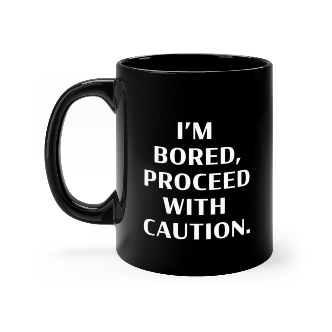 Proceed With Caution Black Viall Files Mug