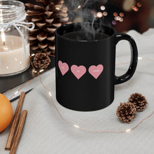 Load image into Gallery viewer, He is Toxic Hearts Black Mug