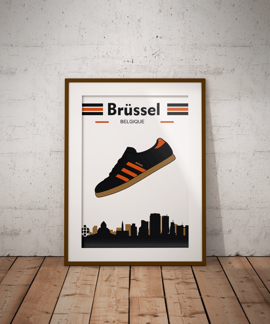 Adidas Inspired Brussels Print