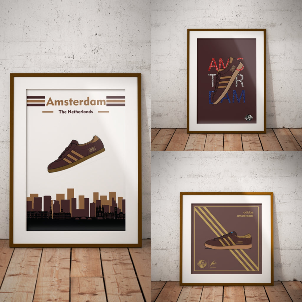 Adidas Inspired Amsterdam Trio City Series Prints