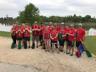 Carlyle team at The River City Dragon Boat Festival