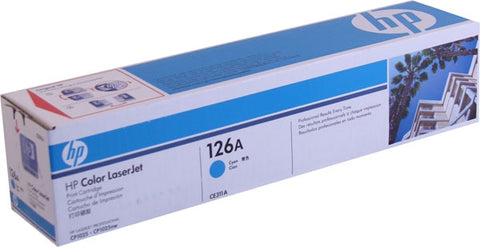 HP 126A (CE311A) Color LaserJet CP1020 CP1025nw MFP M175nw M275 Cyan Original LaserJet Toner Cartridge (1000 Yield)
