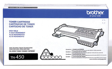 Brother Industries, Ltd HL-2220 2230 2240D 2270DW 2280 MFC-7240 7360 7365 7460 7860 DCP-7060 7065 IntelliFax 2840 2940 High Yield Toner Cartridge (2600 Yield)