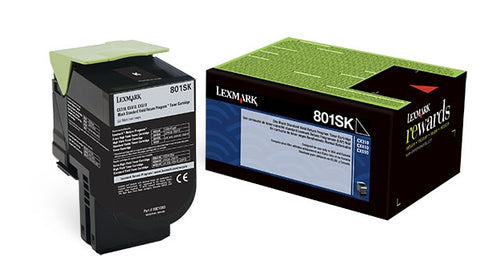 Lexmark International, Inc (801SK) CX310 CX410 CX510 Black Return Program Toner Cartridge (2500 Yield)