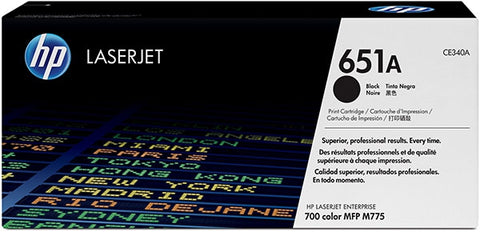 HP 651A (CE340A) LaserJet Enterprise 700 Color MFP M775 Black Original LaserJet Toner Cartridge (13500 Yield)