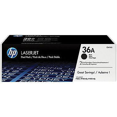 HP 36A (CB436D) LaserJet M1522 MFP P1505 2-Pack Black Original LaserJet Toner Cartridges (2 x 2000 Yield)