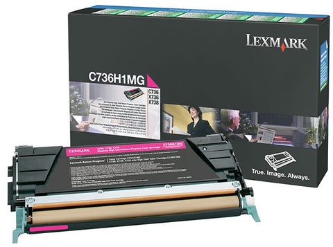 Lexmark International, Inc C736 X736 X738 High Yield Magenta Return Program Toner Cartridge (10000 Yield)