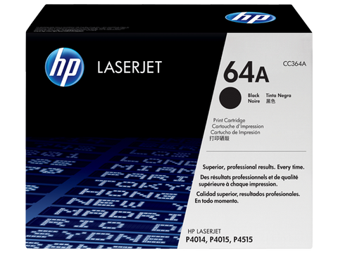 HP 64A (CC364A) LaserJet P4014 P4015 P4515 Black Original LaserJet Toner Cartridge (10000 Yield)