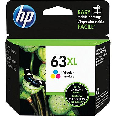 HP 63XL (F6U63AN) High Yield Tri-color Original Ink Cartridge (330 Yield)