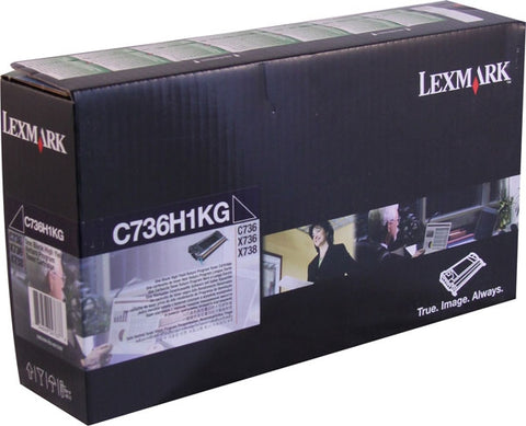 Lexmark International, Inc C736 X736 X738 High Yield Black Return Program Toner Cartridge (12000 Yield)