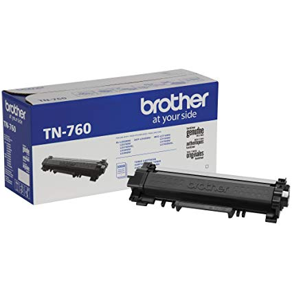 Brother Industries, Ltd Genuine TN760 High Yield Mono Laser Toner Cartridge